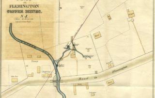 Map of Flemington Copper Mines