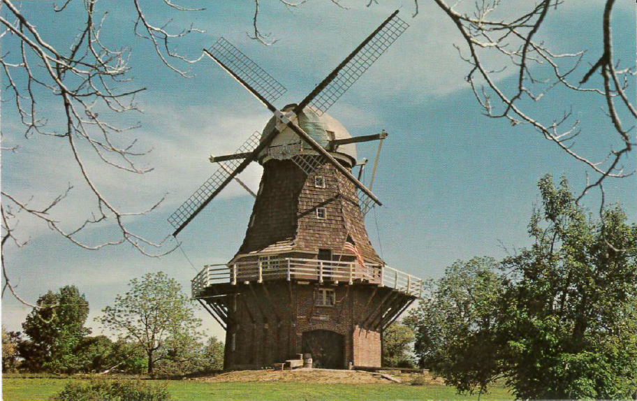 Building the Volendam Windmill  in Holland Township